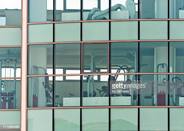 gym windows - leisure facilities stock pictures, royalty-free photos & images