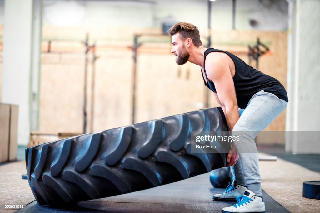 gym workout in the gym : Stock Photo