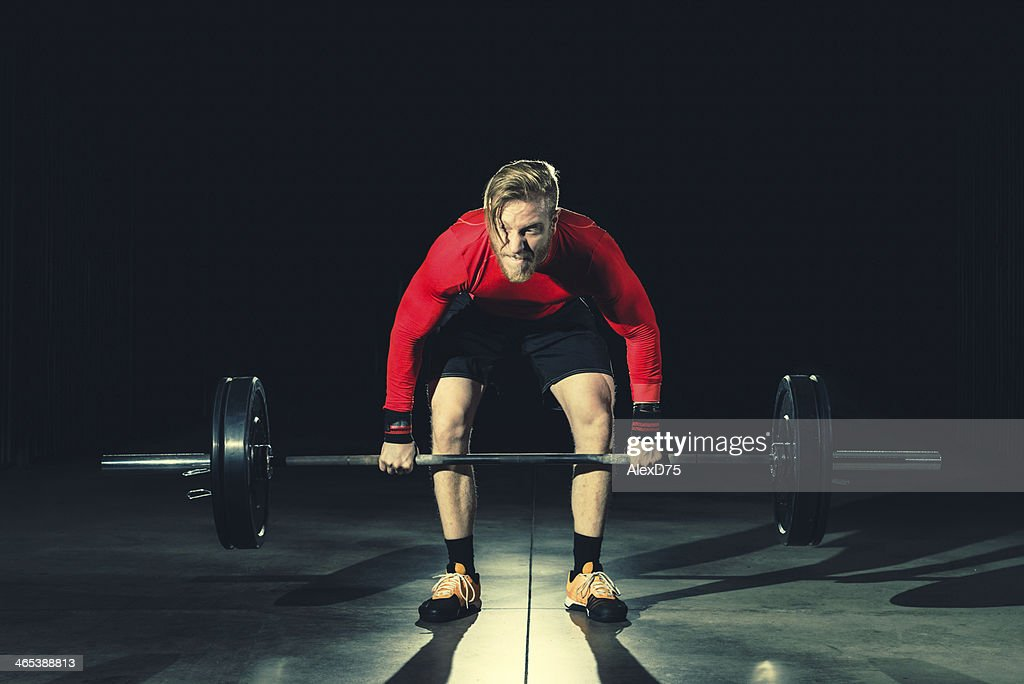 gym Workout - Lifting Weights : Stock Photo