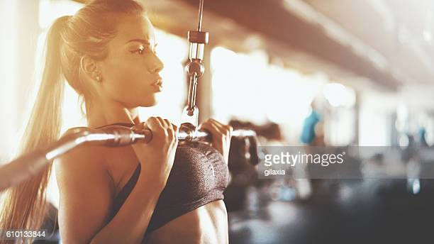 gym workout. - extra long stock pictures, royalty-free photos & images