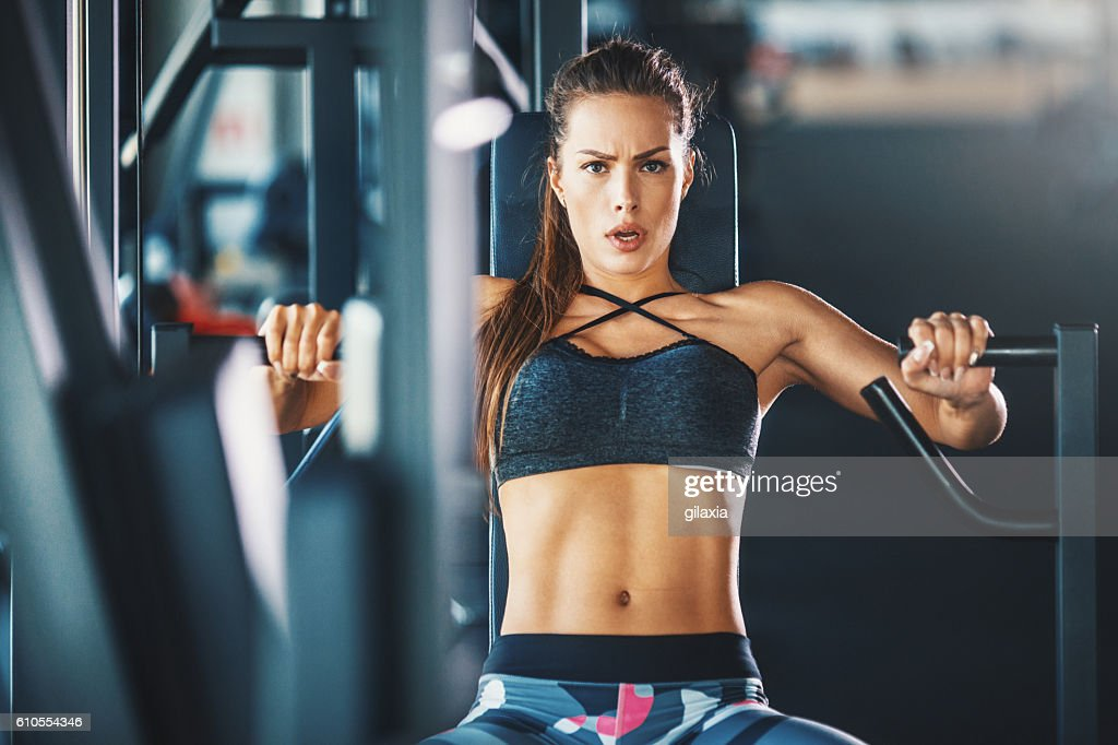 Gym workout. : Stock Photo