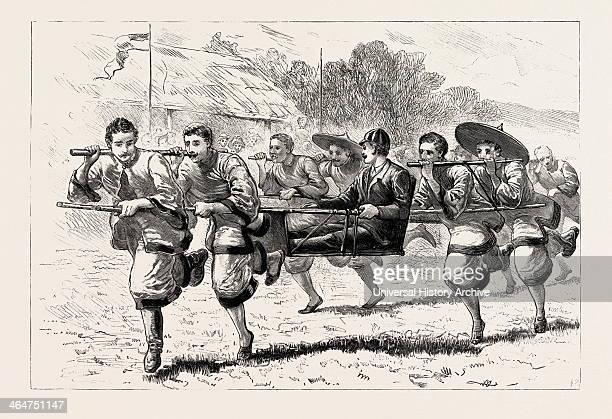 Gymkhana Races Of The Hongkong Engraving 1890