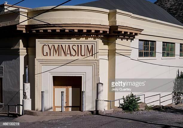 CONTENT] Gymnasium entrance in Bisbee AZ