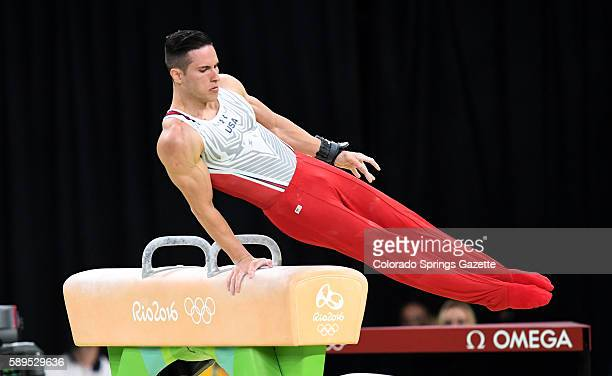 US gymnast Alexander Naddour took the bronze medal for his pommel horse routine on Sunday Aug 14 2016 at the Rio Games in Brazil