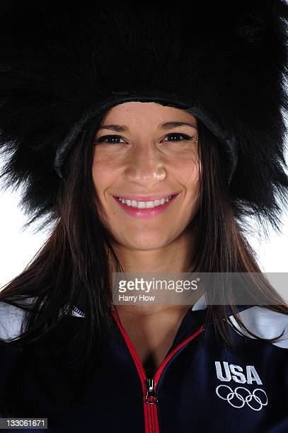 Gymnast Alicia Sacramone poses for a portrait during the USOC Portrait Shoot at Smashbox West Hollywood on November 16 2011 in West Hollywood...