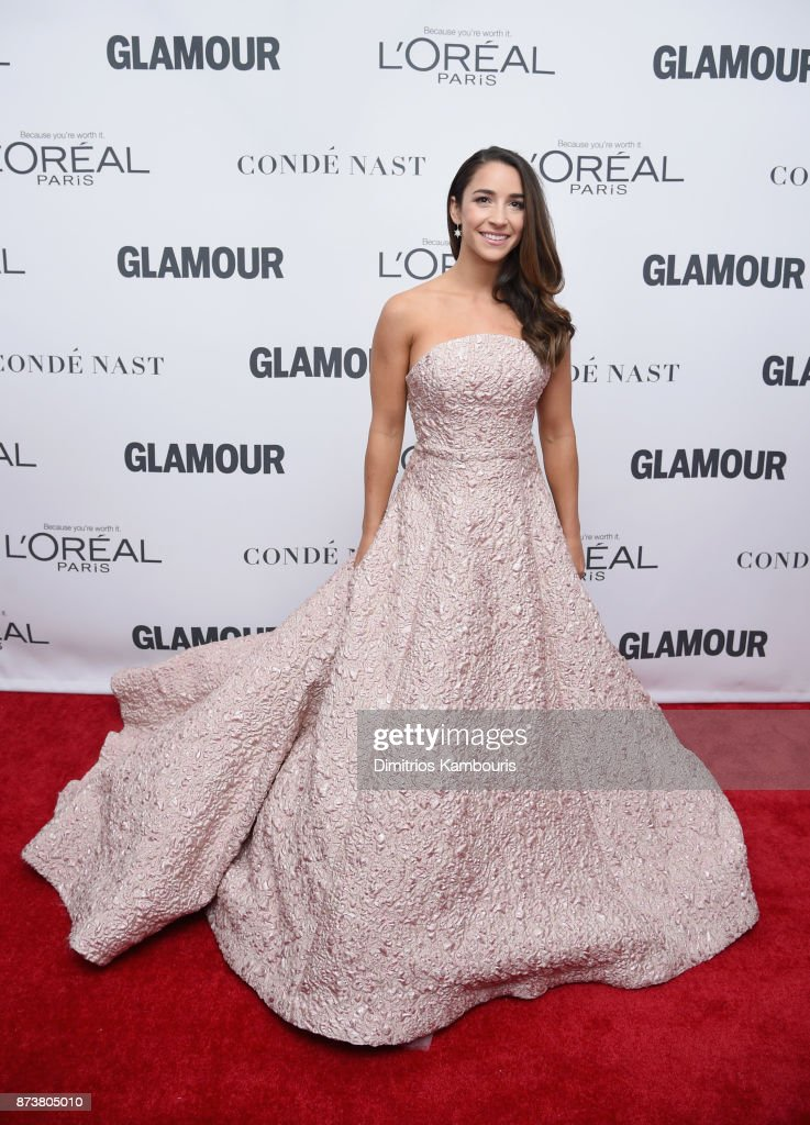 Gymnast Aly Raisman attends Glamour's 2017 Women of The Year Awards at Kings Theatre on November 13, 2017 in Brooklyn, New York.