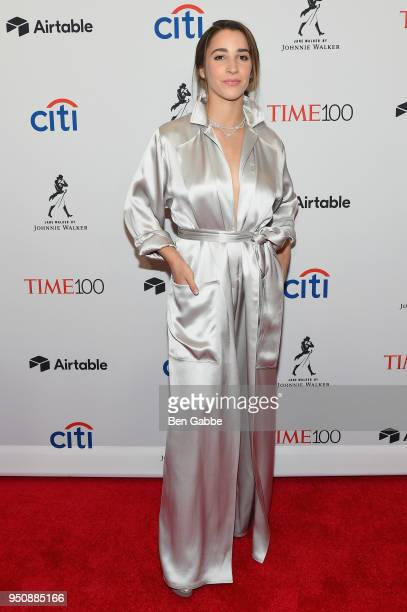Gymnast Aly Raisman attends the 2018 Time 100 Gala at Jazz at Lincoln Center on April 24 2018 in New York City