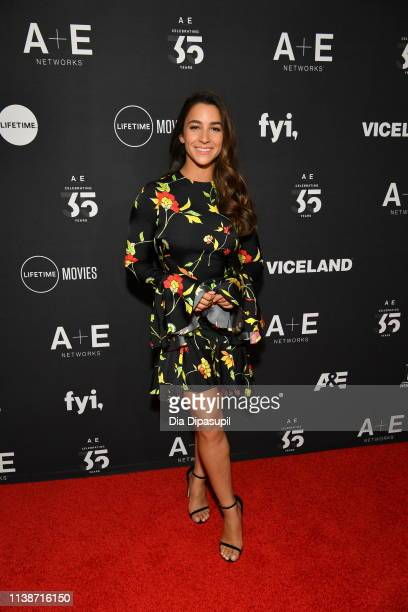 Gymnast Aly Raisman attends the 2019 A+E Networks Upfront at Jazz at Lincoln Center on March 27, 2019 in New York City.