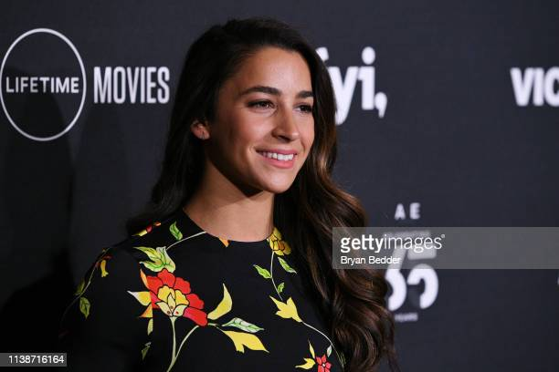 Gymnast Aly Raisman attends the 2019 AE Networks Upfront at Jazz at Lincoln Center on March 27 2019 in New York City