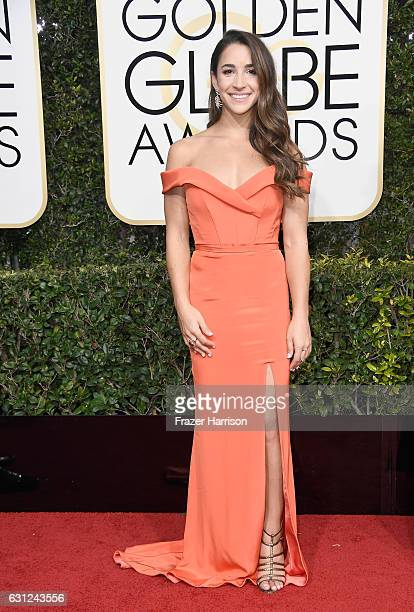 Gymnast Aly Raisman attends the 74th Annual Golden Globe Awards at The Beverly Hilton Hotel on January 8 2017 in Beverly Hills California