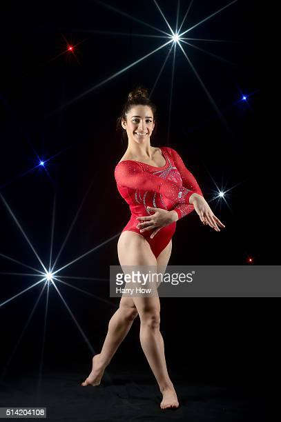 Gymnast Aly Raisman poses for a portrait at the 2016 Team USA Media Summit at The Beverly Hilton Hotel on March 7 2016 in Beverly Hills California