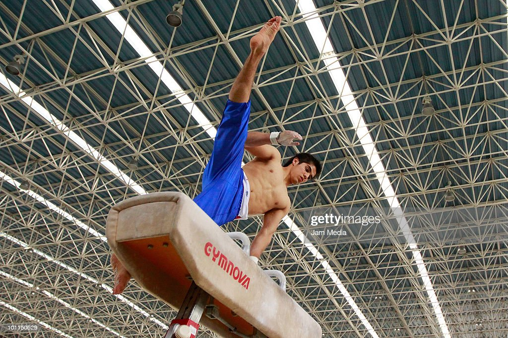 Gymnast Asiel Lopez in action during gym selection for Central American and Caribbean games that will take place in Puerto Rico at National Center for High Performance on May 27, 2010 in Mexico City, Mexico.