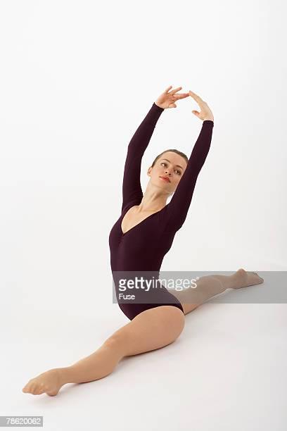 Gymnast Doing Splits
