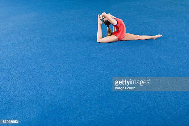 Gymnast doing the splits