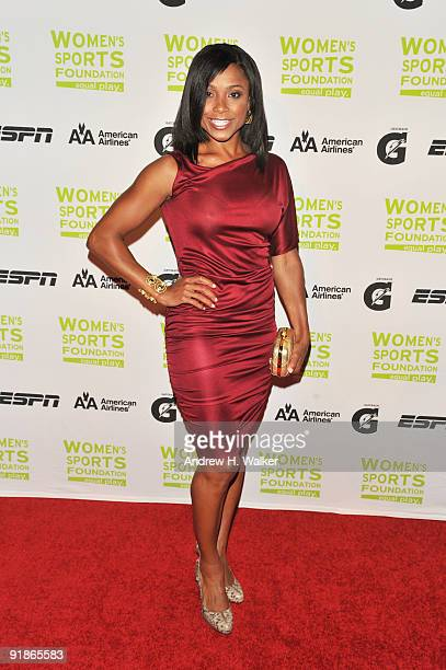 Gymnast Dominique Dawes attends the 30th Annual Salute To Women In Sports Awards at The Waldorf=Astoria on October 13 2009 in New York City