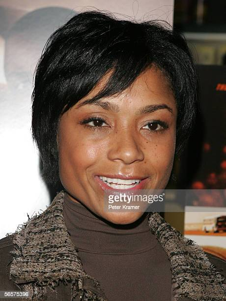 Gymnast Dominique Dawes attends the Disney Pictures screening of Glory Road at the Clearview Chelsea West Cinemas on January 11 2006 in New York City