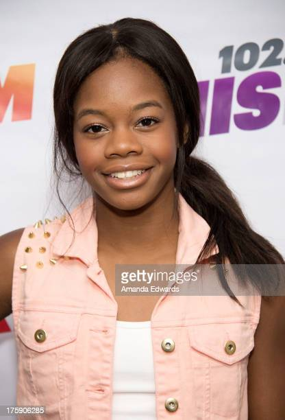 Gymnast Gabby Douglas arrives at the 1027 KIIS FM Teen Choice Awards PreParty at W Los Angeles Westwood on August 9 2013 in Los Angeles California