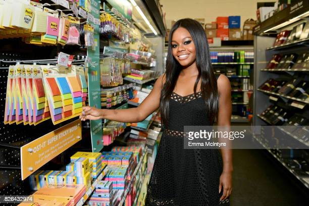 Gymnast Gabby Douglas at the Postit Brand Make It Stick For BacktoSchool 2017 appearance at Staples in Burbank California on August 4 2017