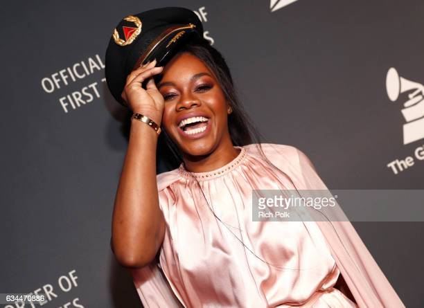 Gymnast Gabby douglas attends Delta Air Lines official Grammy event featuring private performance and interactive evening with Halsey at Beauty Essex...