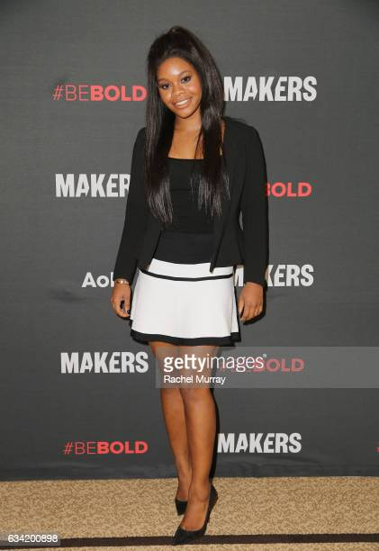 Gymnast Gabby Douglas attends The 2017 MAKERS Conference Day 2 at Terranea Resort on February 7 2017 in Rancho Palos Verdes California