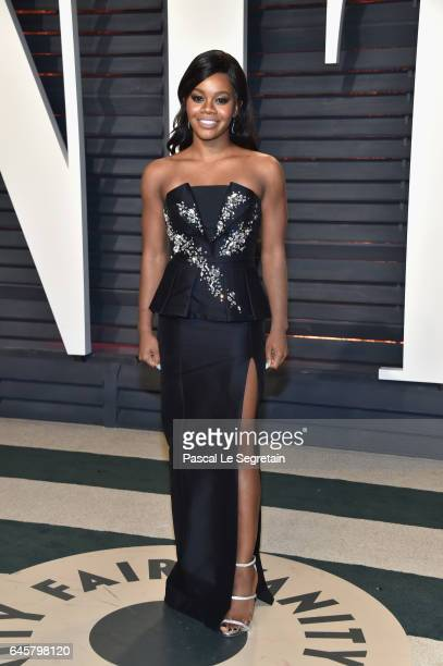 Gymnast Gabby Douglas attends the 2017 Vanity Fair Oscar Party hosted by Graydon Carter at Wallis Annenberg Center for the Performing Arts on...