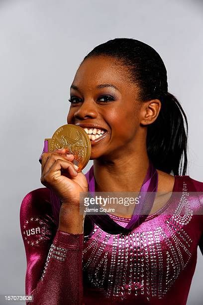Gymnast Gabby Douglas poses during a portrait shoot on August 5, 2012 in London, England.