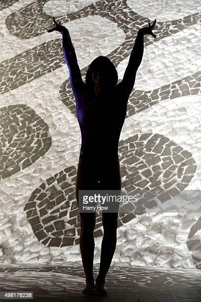 Gymnast Gabby Douglas poses for a portrait at the USOC Rio Olympics Shoot at Quixote Studios on November 20, 2015 in Los Angeles, California.