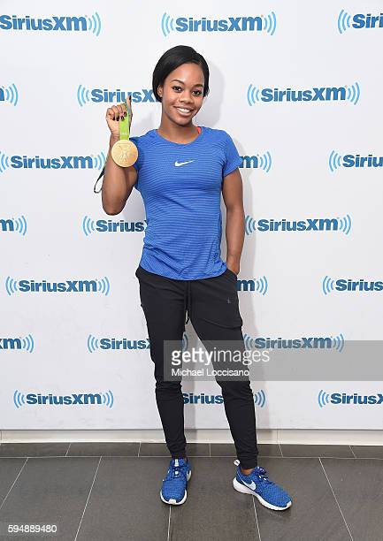Gymnast Gabby Douglas visits SiriusXM Studios on August 24 2016 in New York City