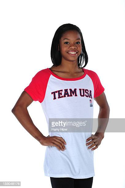 Gymnast Gabrielle Douglas poses for a portrait during the USOC Portrait Shoot at Smashbox West Hollywood on November 16, 2011 in West Hollywood,...