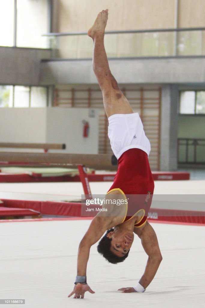 Gymnast Gerardo Gomez in action during a gym selection for Central American and Caribbean games that will take place in Puerto Rico at National Center for High Performance on May 27, 2010 in Mexico City, Mexico.