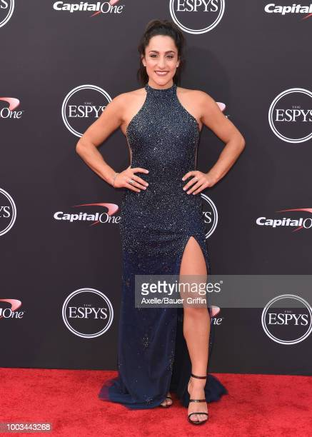 Gymnast Jordyn Wieber attends The 2018 ESPYS at Microsoft Theater on July 18 2018 in Los Angeles California