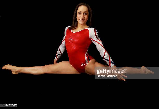 Gymnast Jordyn Wieber poses for a portrait during the 2012 Team USA Media Summit on May 14 2012 in Dallas Texas
