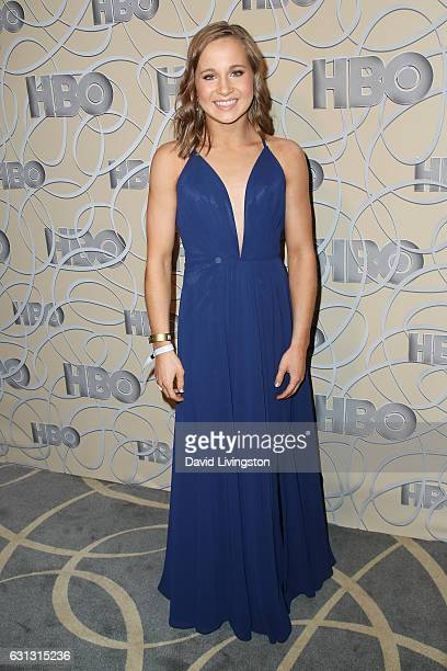 Gymnast Madison Kocian arrives at HBO's Official Golden Globe Awards after party at the Circa 55 Restaurant on January 8 2017 in Los Angeles...