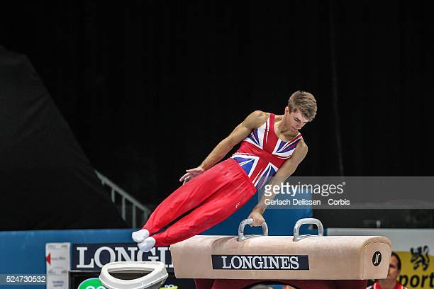 Gymnast Max Whitlock in action on the pommel horse during the Men's All-Around Final of the 44th Artistic Gymnastics World Championship in Antwerp ,...
