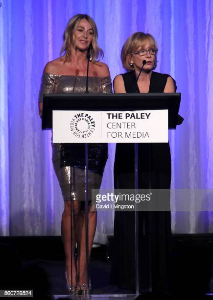 Gymnast Nadia Comaneci and actress Cathy Rigby speak at Paley Honors in Hollywood A Gala Celebrating Women in Television at the Beverly Wilshire Four...