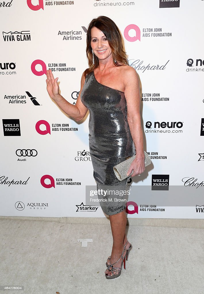 Gymnast Nadia Comaneci attends the 23rd Annual Elton John AIDS Foundation's Oscar Viewing Party on February 22, 2015 in West Hollywood, California.