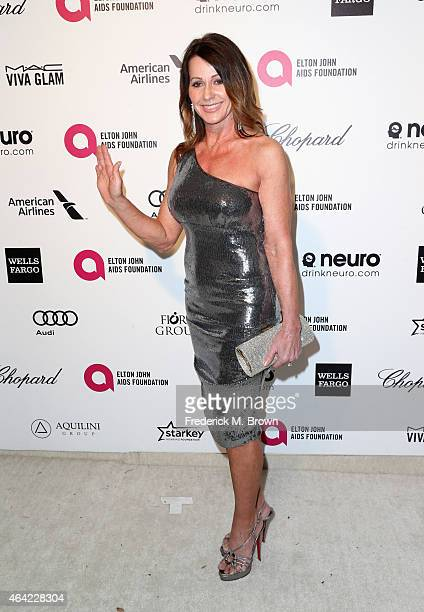 Gymnast Nadia Comaneci attends the 23rd Annual Elton John AIDS Foundation's Oscar Viewing Party on February 22 2015 in West Hollywood California