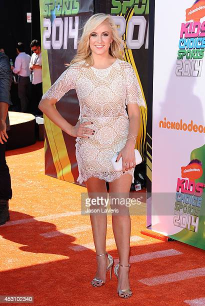 Gymnast Nastia Liukin attends the 2014 Nickelodeon Kids' Choice Sports Awards at Pauley Pavilion on July 17 2014 in Los Angeles California