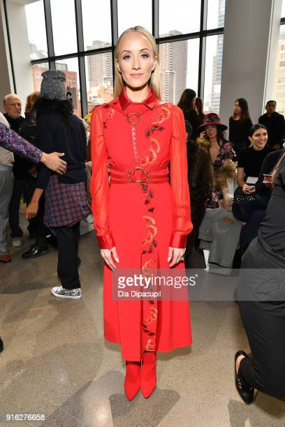 Gymnast Nastia Liukin attends the Bibhu Mohapatra front row during New York Fashion Week The Shows at Gallery II at Spring Studios on February 9 2018...