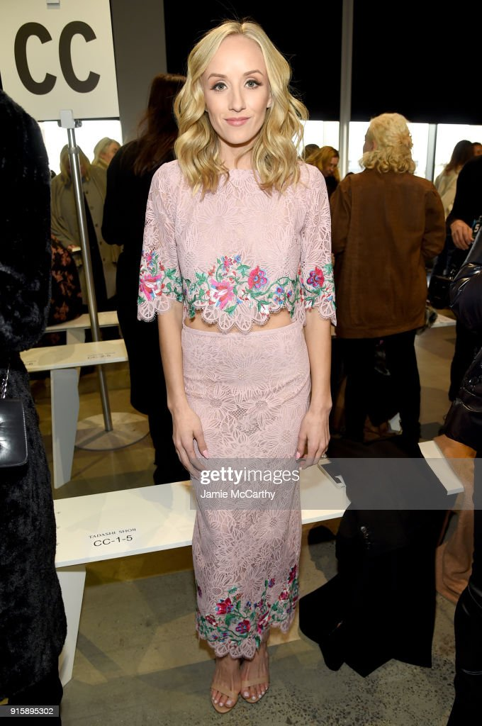 Tadashi Shoji - Front Row - February 2018 - New York Fashion Week: The Shows : News Photo