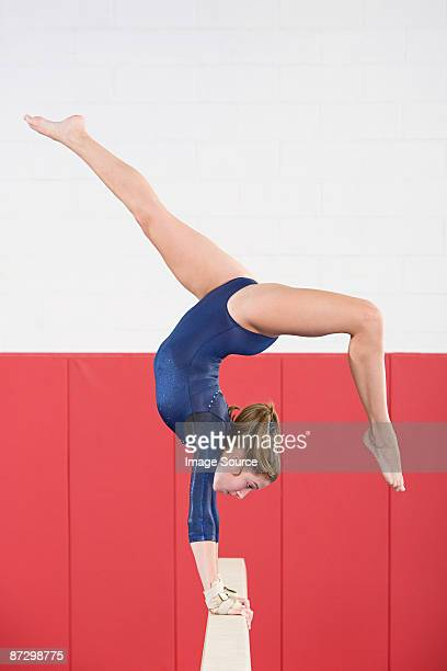 Gymnast on a balance beam