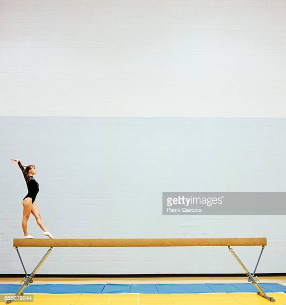 Gymnast on Balance Beam