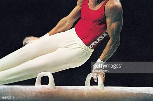 Gymnast on the Pommel Horse