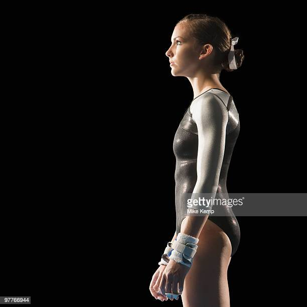 gymnast - gymnastics poses stock pictures, royalty-free photos & images