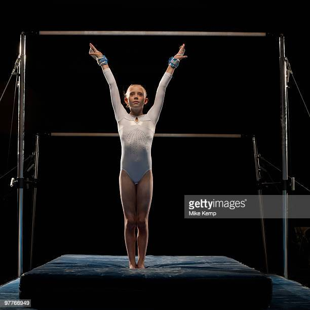 gymnast - gymnastics stock pictures, royalty-free photos & images