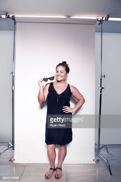 Gymnast Shawn Johnson is photographed inside the ESPY Gifting Suite on July 14 2015 in Los Angeles California