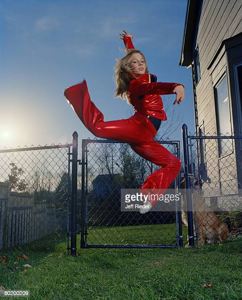 Gymnast Shawn Johnson poses at a portrait session in West Des Moines Iowa Published image