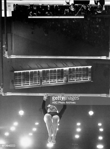 Gymnast Vera Caslavska at 1968 Olympics