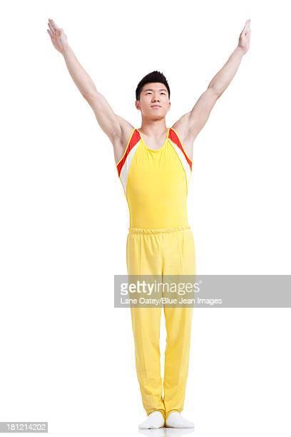 Gymnastic athlete posing