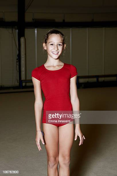gymnastic, girl, toothy smile, portrait